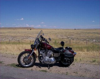 bike in the middle of montana