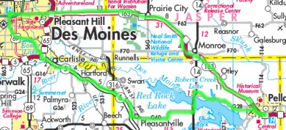 loop from des moines to pella and back
