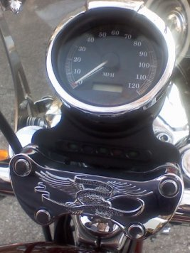 photo of speedometer
