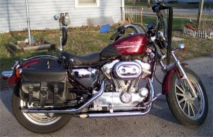 sportster with straight pipes