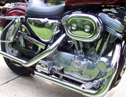 Straight pipes on my Sportster.