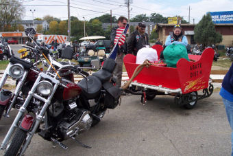 toys for tots toy run santa's sleigh
