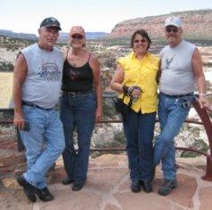 carole, judy and hubbies in Utah