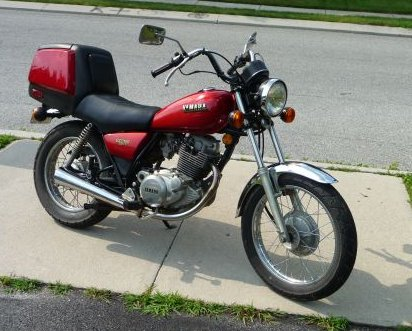 This is not my actual bike, but it's an example of an 82 Exciter. Sorry I can't credit the photo - when I clicked the Google Images link to see where the photo came from, it popped up a PORN site... with no motorcycle to be found. Just hoo-hoos. Lots of hoo-hoos.