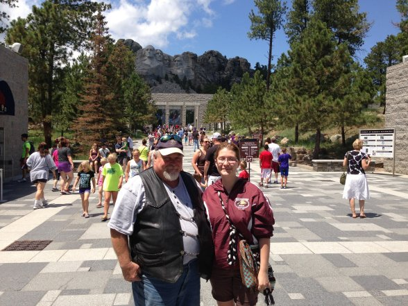 At Mt. Rushmore, Keystone, SD
