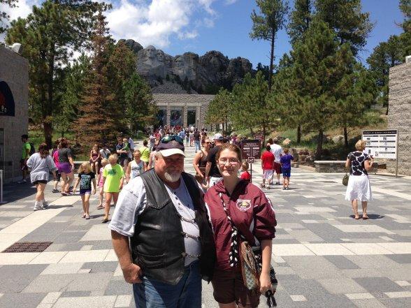 At Mt. Rushmore, Keystone, SD