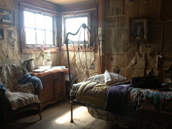 Inside the cabin at the Matchless Mine. Baby Doe died here in 1939.