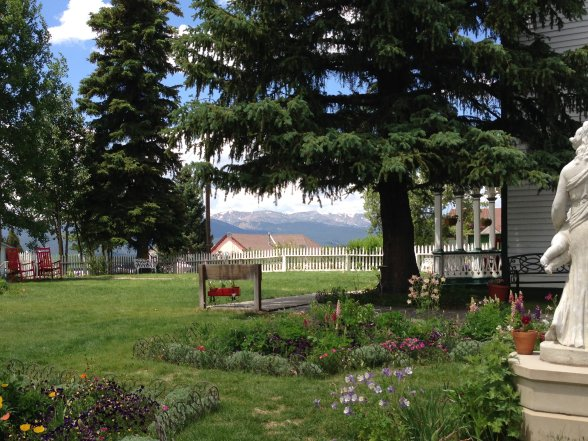 Gardens at Healy House, home of one of Leadville's founders, August Meyer.