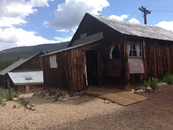 "The Matchless Mine, run by Horace Tabor and his wife. This is the shack where ""Baby Doe"" lived her widowed years after the collapse of the fortune she had enjoyed with her husband."