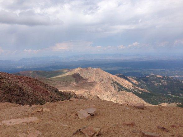 Summit view, Pikes Peak