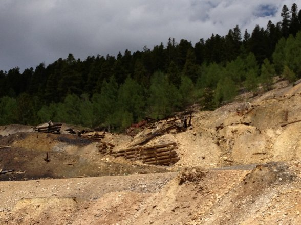 Abandoned silver mines at Leadville