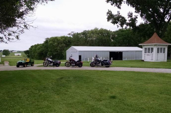 Steel horses on the farm | Biker Chick News