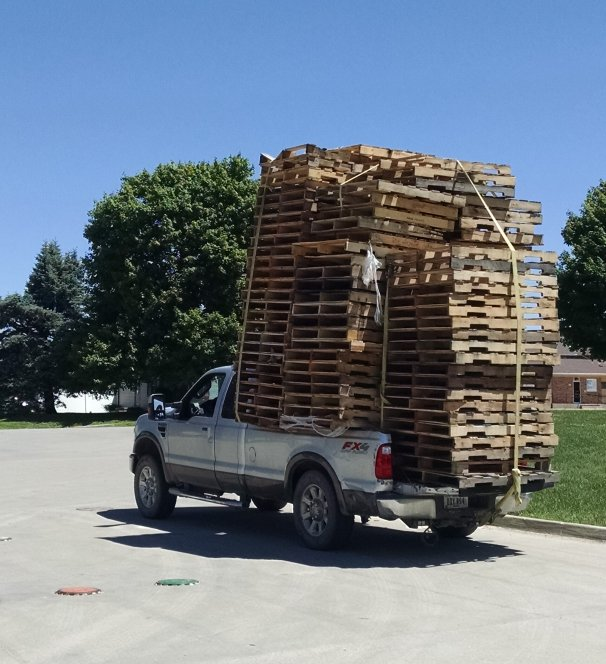 Pallets make terrible cargo | Biker Chick News