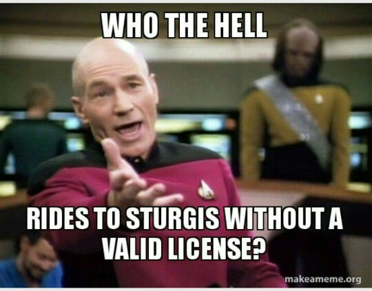 Picard wants you to be properly licensed