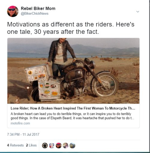 Tweets I tweet on Twitter | Biker Chick News