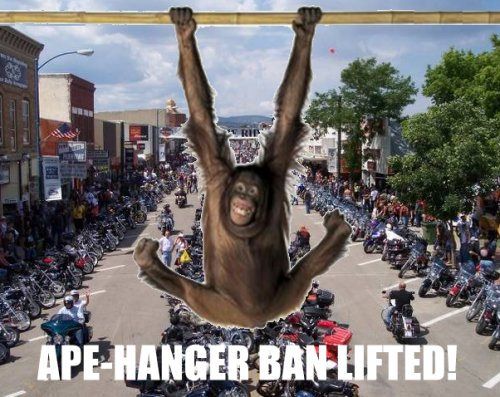 ape hanger ban lifted in sturgis